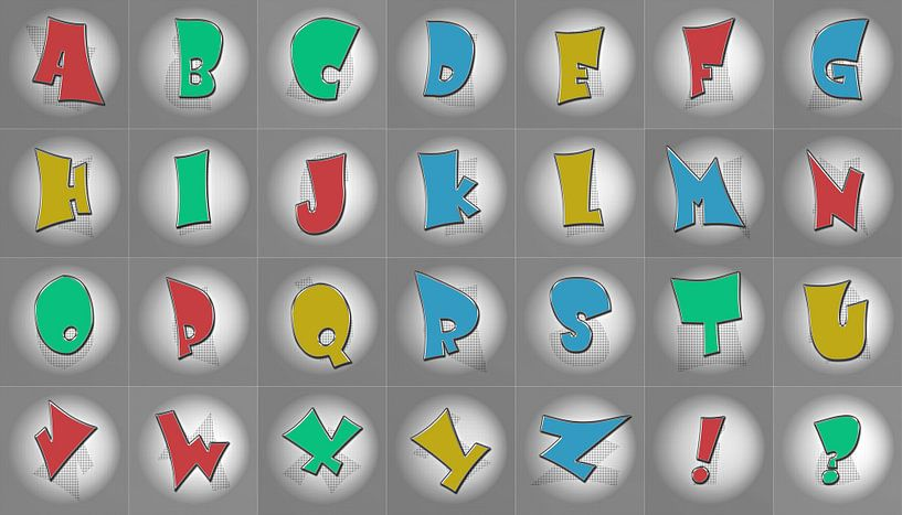 Alphabet No.4 bunt von Leopold Brix