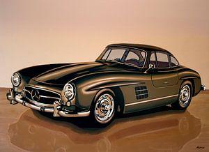 Mercedes Benz 300 SL Gullwing Schilderij van Paul Meijering