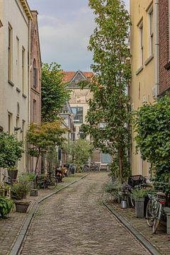 Eine Straße in der Hansestadt Zwolle, Niederlande von Eric Wander