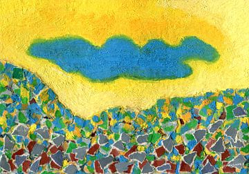 Hemelsblauwe wolk van Godelieve Kunst