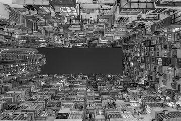 Hong Kong by Night - Quarry Bay Buildings - 3 van Tux Photography