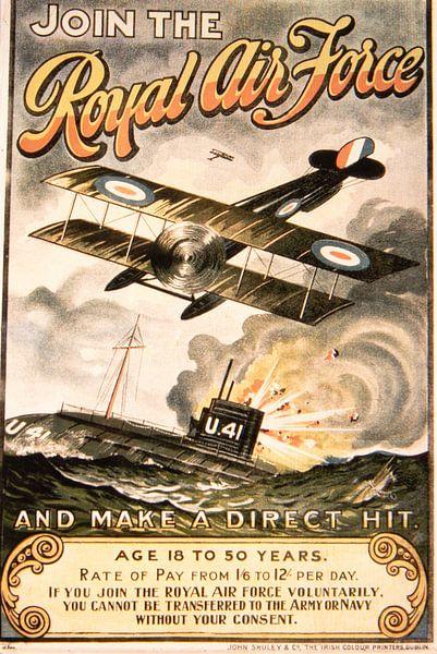 Royal Air Force  wervingposter van Brian Morgan