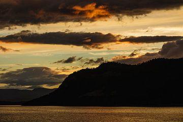 Sunset on the Storfjord in Norway van