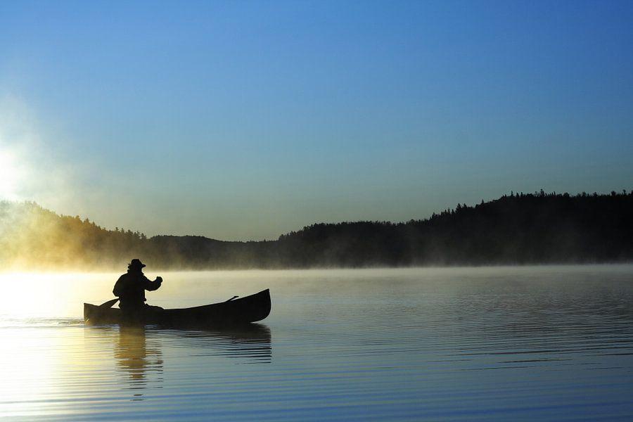 Canoter sur le lac bleu van Renald Bourque