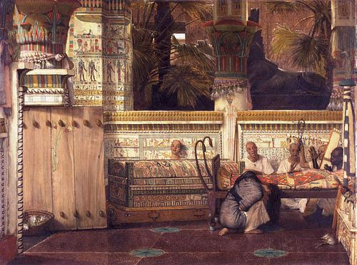 Lawrence Alma Tadema. De Egyptische weduwe, 1884