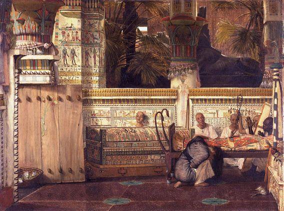 Lawrence Alma Tadema. De Egyptische weduwe, 1884 van 1000 Schilderijen