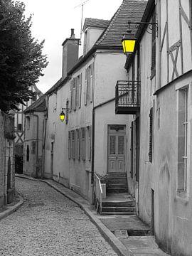 Frans zwart-wit straatje van Mirjam van Ginkel