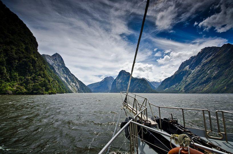 Sailing in Milford Sound - New Zealand van Ricardo Bouman
