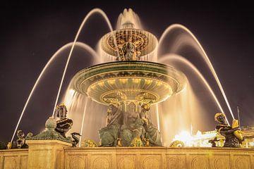 Springbrunnen am Place de la Concorde, Paris von Christian Müringer