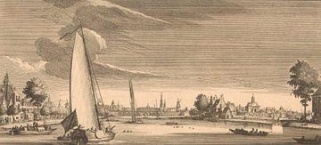 Blick auf Amsterdam, von der Amstel, Jan Goeree, Abraham Storck