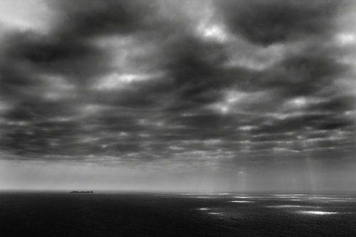 Achill Island, Ierland (zwart-wit) van