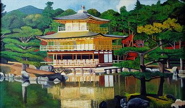 Kinkaku -ji Goldener Pavillon Tempel Kyoto van Iwona Sdunek alias ANOWI