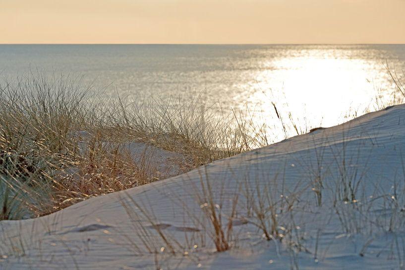 Gouden zonsondergang vanuit de duinen te Egmond van Ronald Smits