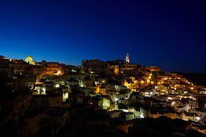 Matera bij nacht