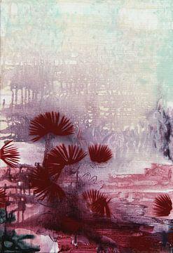Disteln in Weinrot von Simone Zacharias
