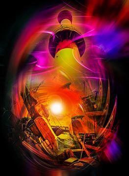 Leuchtturm Romantik von Walter Zettl