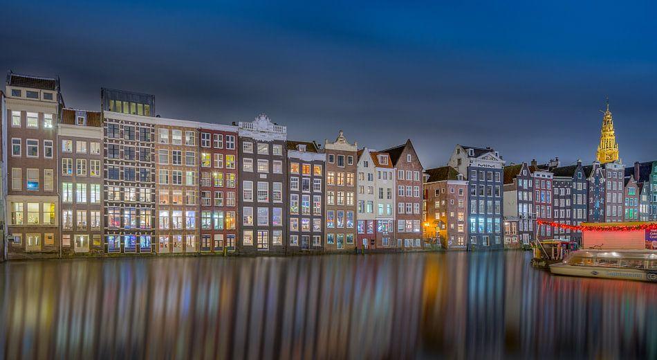 Damrak Amsterdam Nightshot