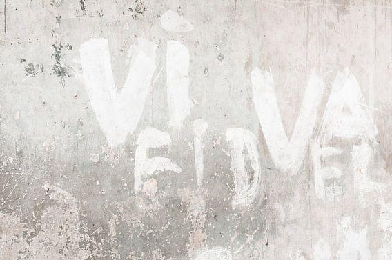 Typografie Fidel Havana muur