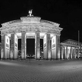 BErlin Brandenburger Tor zwart-wit van Frank Herrmann