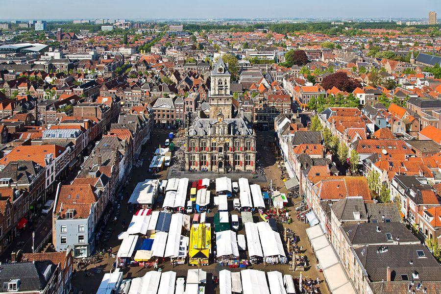 Markt Delft van Anton de Zeeuw