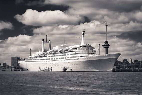 SS Rotterdam in Sepia