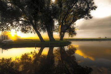 Vroege ochtend zon in de polder van Marc Hollenberg
