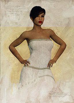 Frau der Welt - Porträt von Laverne von Jan Keteleer