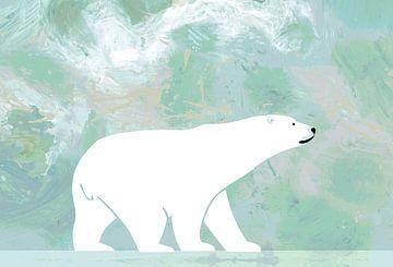 Ijsbeer op de noordpool van