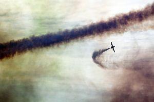 Aermacchi MB-339 van het demonstratieteam Frecce Tricolori in dramatische lucht van Ramon Berk
