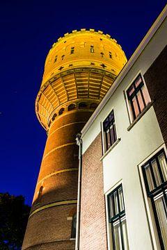 De watertoren aan de Lauwerhof  van Utrecht by Night