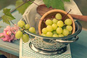 Frische Weiße Weintrauben im Stil