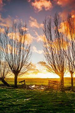 Coucher du soleil le Donk sur Jan Koppelaar
