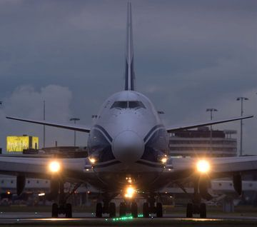 Line up and wait before departure