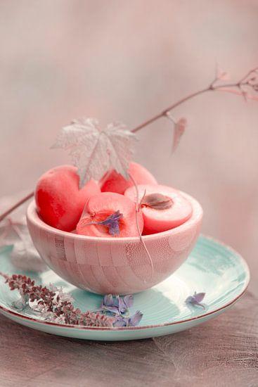 Frische Aprikose im Vintage Look