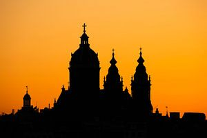 Amsterdam bij zonsondergang