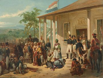 Die Einreichung von Diepo Negoro an Generalleutnant Baron de Kock, Nicolaas Pieneman.