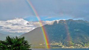 Dubbele regenboog over het Lago Maggiore