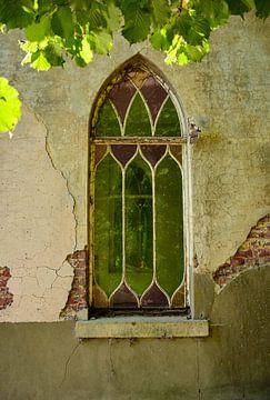 Antiek glas in lood venster von Martine Moens