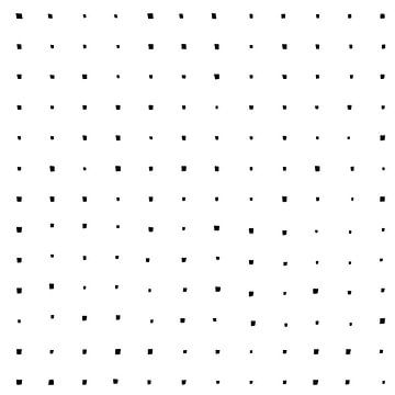 Modern zwart wit patroon met vierkanten van Dina Dankers