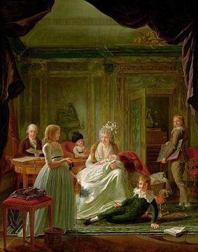 Porträt von Aernout van Beeftingh, seiner Frau Jacoba Maria Boon und ihren Kindern, Nicolaes Muys