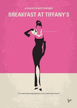 No204 My Breakfast at Tiffanys minimal movie poster van Chungkong Art