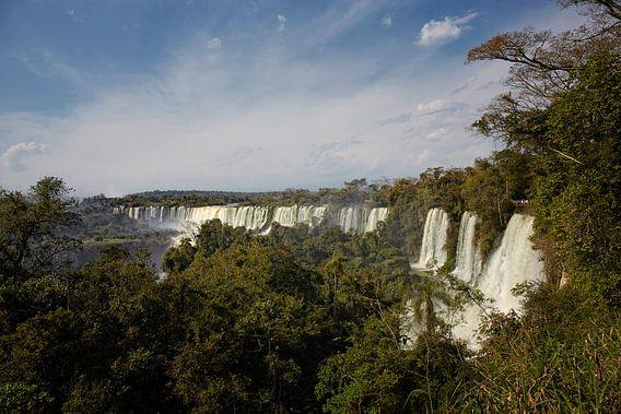 Het gebied van Iguazu Falls is een set van ongeveer 275 watervallen in de Iguazu River