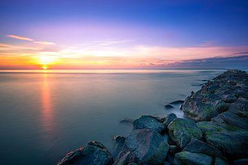 Sonnenuntergang über der Nordsee von Pieter van Dieren (pidi.photo)