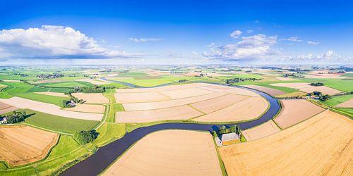 Reitdiep Groningen van Boven (2:1 panorama) van Frenk Volt