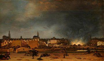 Die Explosion des Pulvermagazins in Delft, Egbert Lievensz. van der Poel
