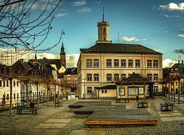 Marktplatz von Schneeberg / Erzgebirge von Johnny Flash