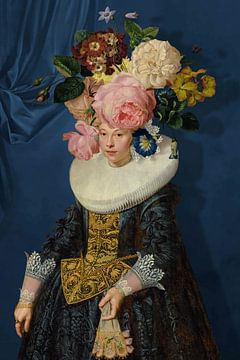Portrait of a Woman – Royal Blue sur Marja van den Hurk