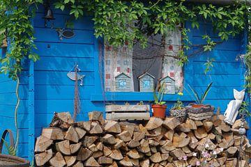 Blaues Holzhaus von Berthold Werner