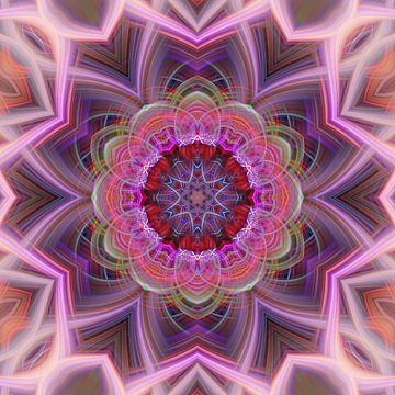 Mandala in rosa von Sabine Wagner