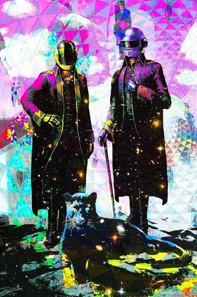 Daft Punk Tribut Kunstwerk Portrait von Giovani Zanolino